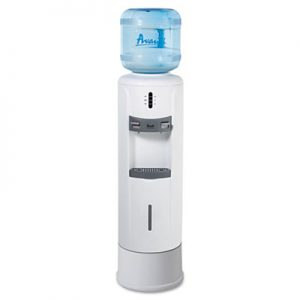 hot and cold water dispenser 12 3 4u2033 dia x 39h ivory white